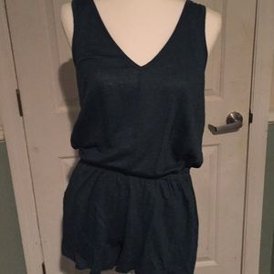 NWT green romper from the Loft